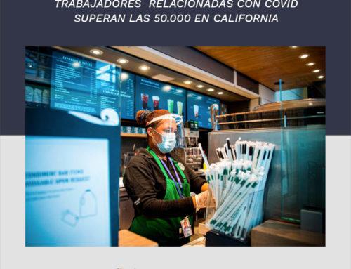 Las reclamaciones de compensación para trabajadores relacionadas con Covid-19 superan las 50.000 en CA