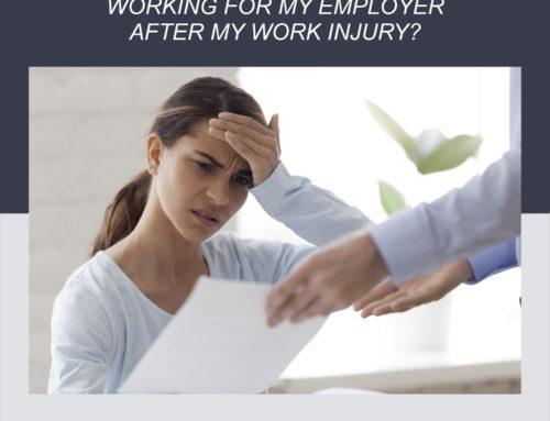 ¿Estoy obligado a seguir trabajando para mi empleador después de una lesión laboral?